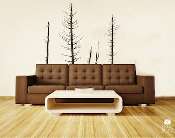Pine Trees Wall Decals Winter - Vinyl Wall Decal Art Custom Home Decor