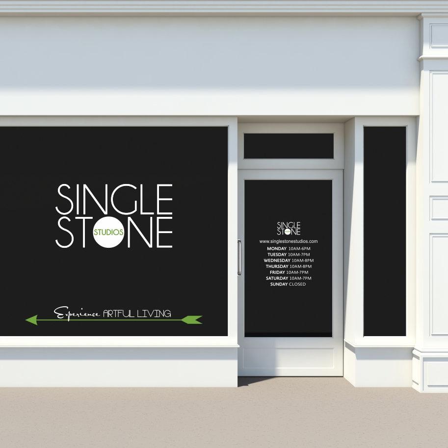 Custom storefront window decals business logos store hours photos etc