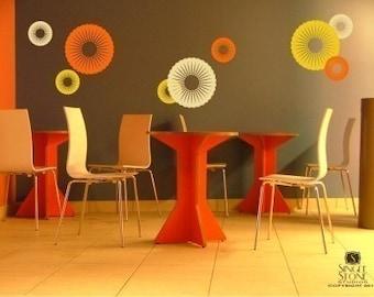 Wall Decals Funky Circles - Vinyl Stickers Art Graphics Custom Home Decor
