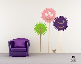 Nursery Wall Decals Tree Tops - Vinyl Text Wall Words Stickers Art Graphics Custom Home Decor