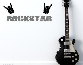Nursery Rock Star Wall Decal - Vinyl Wall Decals Stickers Art Custom Home Decor