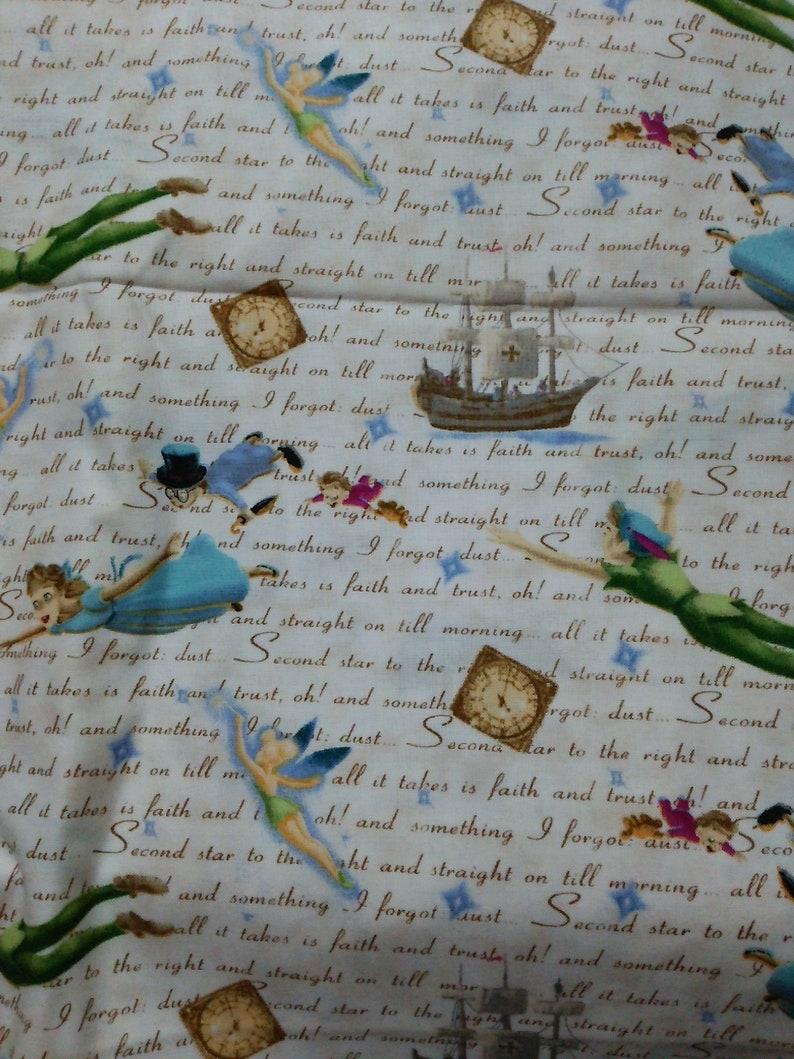 1.88m or 1.38m Cotton Fabric Peter Pan Thomas Kinkade