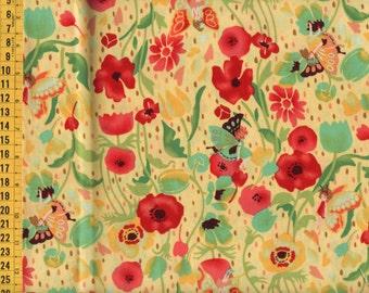 48cm Japanese Cotton Fabric Thumbelina Fairy Flowers 3 colors