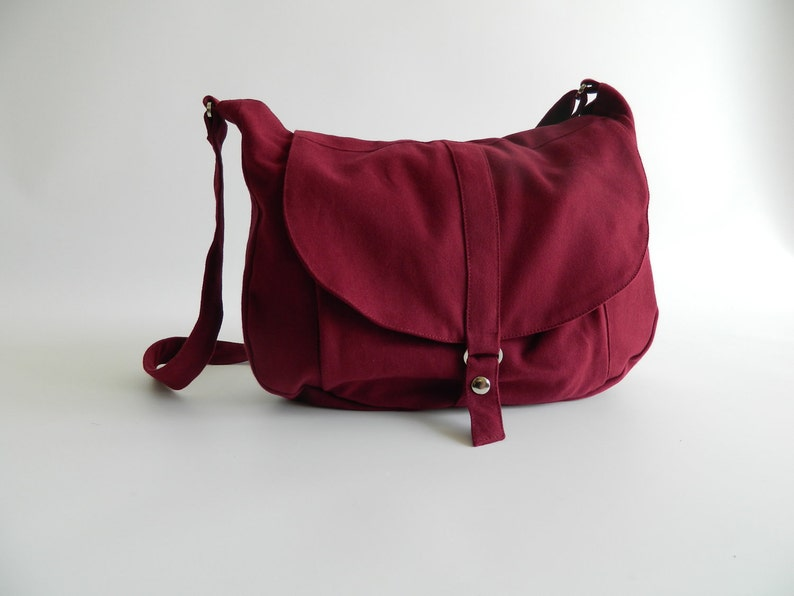 Rose Red messenger bag Canvas diaper bag 5 pockets Women  b44b8fe124f6f