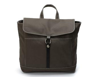 Gray School Laptop  Canvas Backpack, Women Water resistant Unisex Sachel Rucksack backpack, Travel Diaper Backpack(DWR) -no.102 TANYA