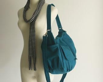 Teal zipper messenger bag ,canvas shoulder handbag ,back to school laptop bag ,Women gift,diaper bag /Sale 25 % - no.18 -DANIEL
