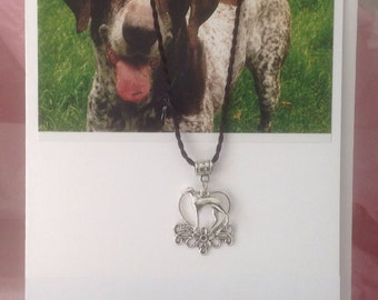 Puppy Card and Puppy Charm Necklace