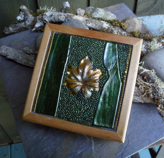 Mosaic Fused Glass Trinket Box for Jewelry or Gifts Number 101