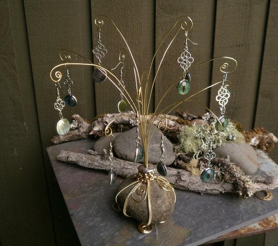 Whimsical Earring Rock Tree Bush?