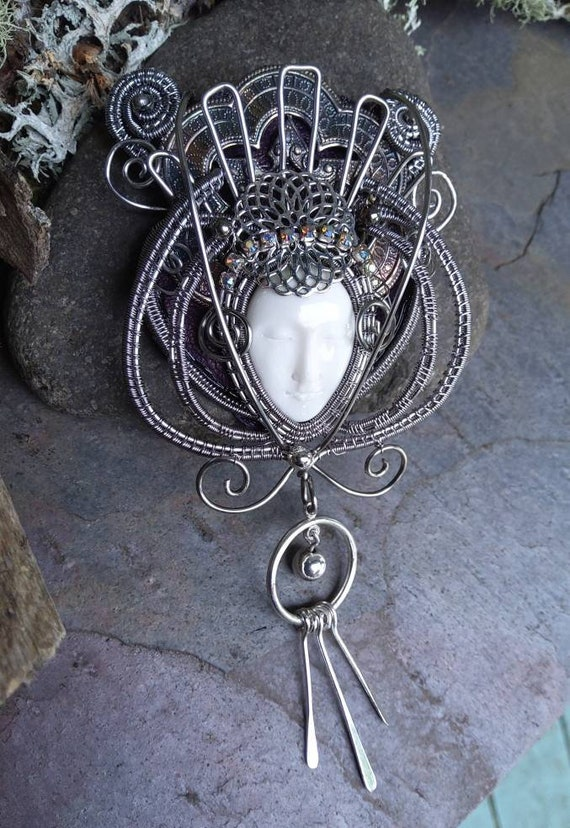 Gothic Steampunk Carved Bone Face Queen Part 1
