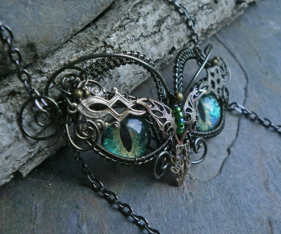 Gothic Steampunk Mini Owl Pendant Necklace