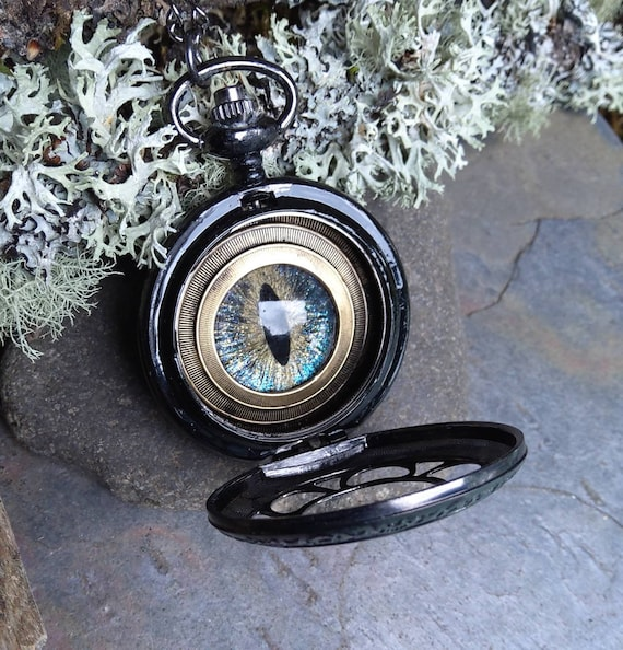 Gothic Steampunk Evil Eye Pocket Watch