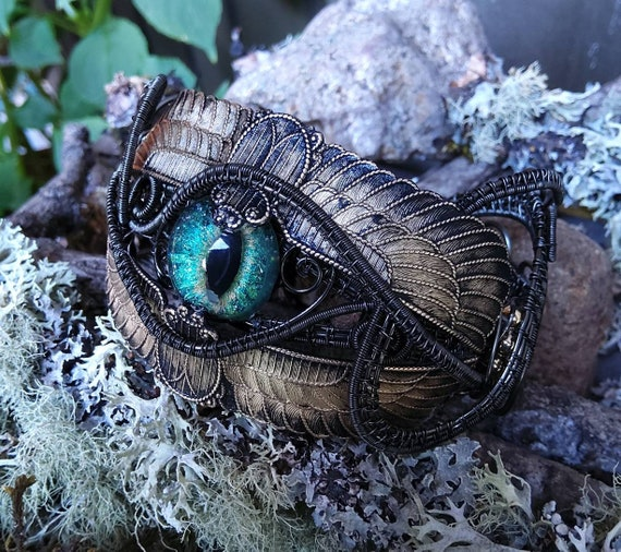 Gothic Steampunk Egyptian Scarab Cuff Bracelet Size 7 to 8 Adjustable