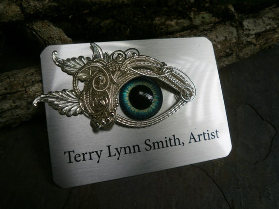 Custom Gothic Steampunk Eye Identification Badge
