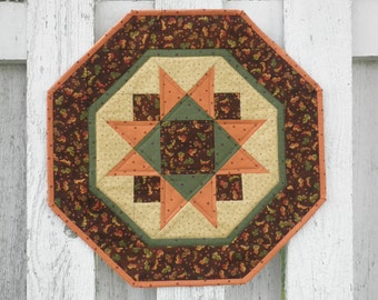 Quilted Star Table Topper (TGTTK) Fall Leaves