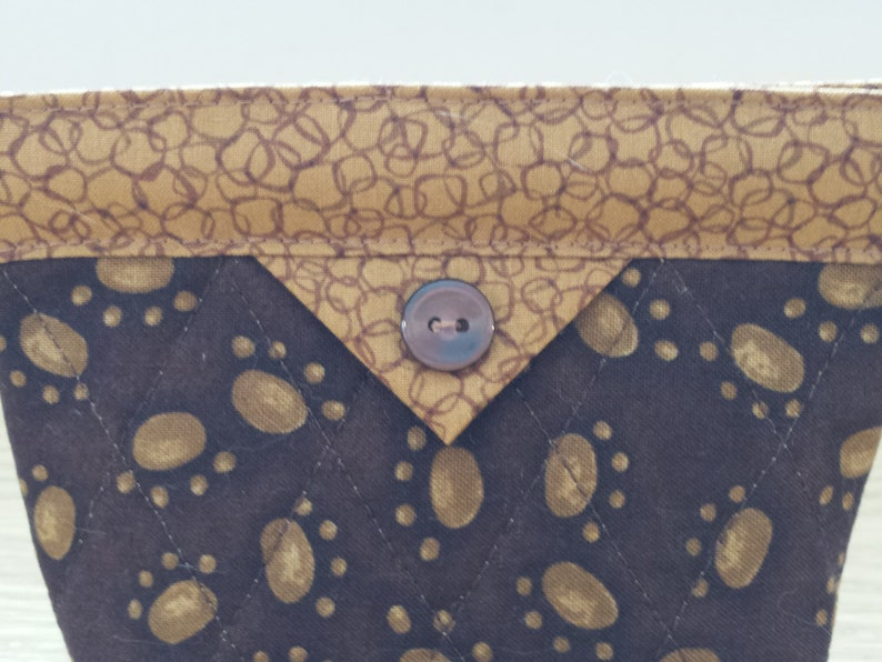 Quilted Snap Bag SB849 Paw Prints