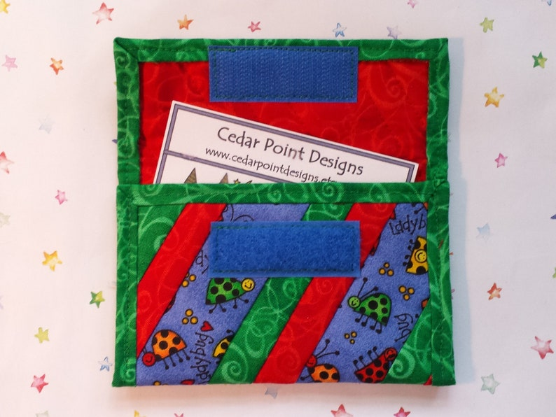 CP176 Quilted Coin Purse Lady Bugs