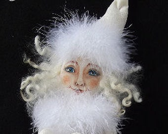 Primitive Folk Art Crystal Winter Elf Collectible Doll PDF Instant Download EPattern Sewing and Painting Pattern by Edna Bridges