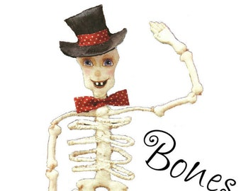 Cloth Doll Pattern Bones Halloween Skeleton Doll Instant Download PDF EPattern Sewing and Painting Pattern by Edna Bridges