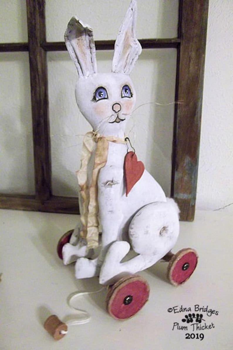 Digital Pattern Vintage Inspired Cloth Primitive Rabbit Hare image 0