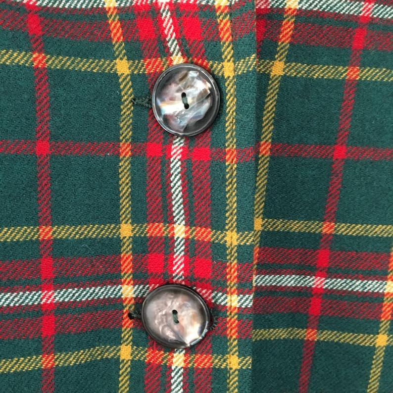 Vintage Pendleton wool plaid Women/'s jacket Knockabouts button down yellow green shirt red