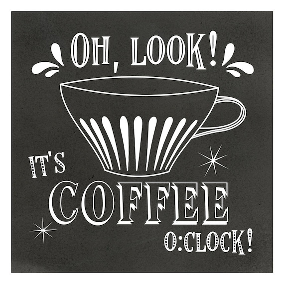 Free Printable Coffee Quotes: Chalkboard Coffee Art With Fun Coffee Quotes Printable