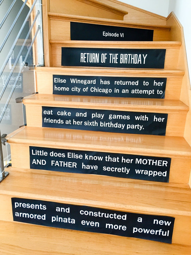 Star Wars Opening Crawl Stair Risers Signs  printable Star image 0