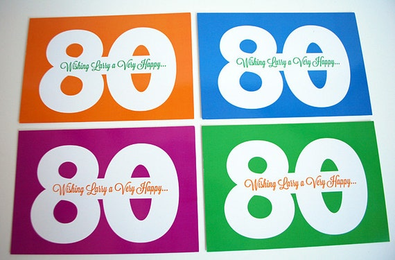 personalized milestone birthday postcards printable pdf in any etsy
