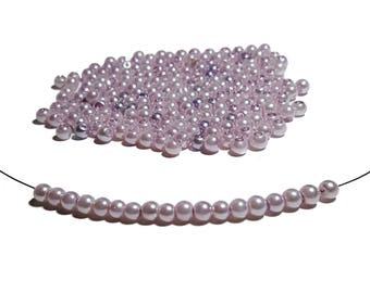 4mm Lilac Glass Pearl Beads 100pcs
