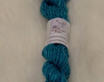 Alpaca Handspun Yarn in Shades of Blue 32g/44yds