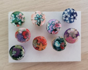 Decorative Push Pins, Large Floral Push Pins, Washi Paper Pins, Jumbo Cork Board Pins, Bulletin Board Pins, Home Gift, Stocking Stuffer