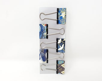 Cute Medium Washi Paper Binder Clips Office Professional Planner Clips, Colorful Foldback Clips, Fancy Office Stationery, Stocking Stuffer