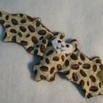 NEW tan coffee bean fabric bat Stuffed Animal, Coffee Cozy, Cup Sleeve