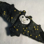 Constellation Batwith GLOW in the DARK nose - Stuffed Animal, Cup Sleeve, Coffee Cozy