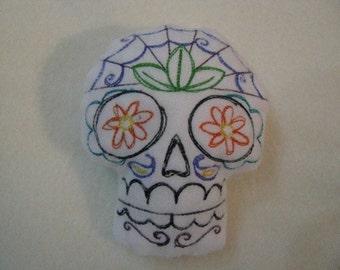 Large Sugar Skull Pincushion or stuffed animal