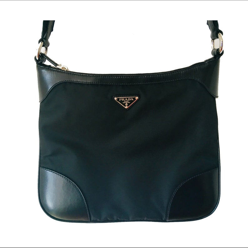 56a07383cd Authentic Prada Bag Black Crossbody Bag Luxury Bag Prada Nylon