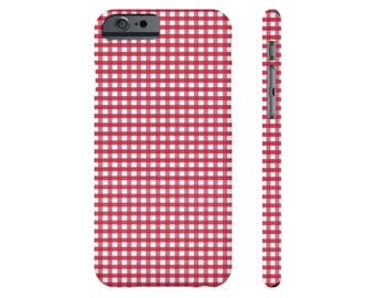 Red Gingham iPhone 6s Case iPhone 6 Plus Case iPhone 7 Case Checkered Samsung Galaxy s7 Case Samsung Galaxy s6 Case iPhone X iPhone 5 Case