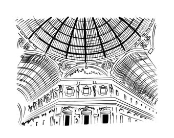 Prints Wall Art Drawing Print Illustration Print Illustration Art Illustration Poster Architectural Prints Black and White Architectural Art