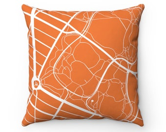 NY Map Pillow Case Living Room Decor Throw Pillow Covers 18x18 Throw Pillow Cases  Home Decor Decorative Pillow Bed Pillow NYC Cuscion Cover