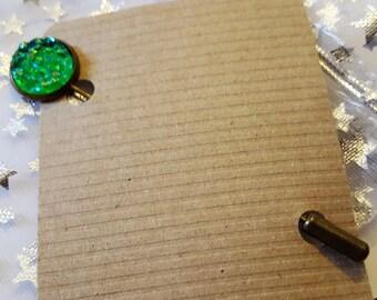Steampunk Inspired Faux Druzy Sparkle Hat Pin Kravat Pin