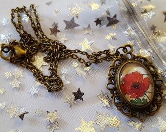 Beautiful Poppy Necklace