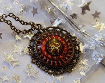 Steampunk Inspired Heart Clock Necklace