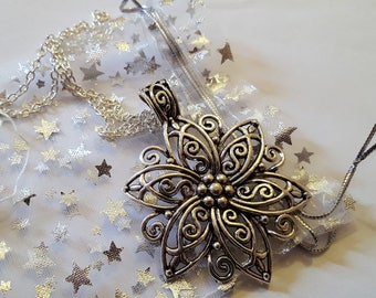 Steampunk Inspired large Flower Necklace