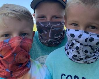 Kansas Jayhawk Kids Neck Gaiter Summer Bandana Cool Face Covering for school Children mask