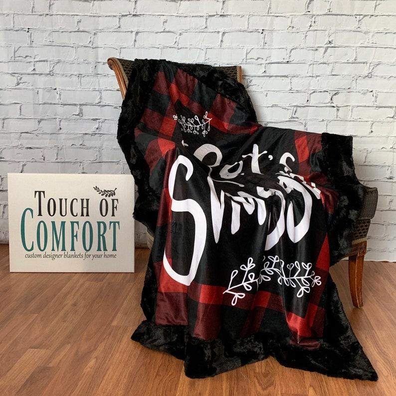 Lets Cuddle Buffalo Plaid Minky Cuddle Blanket