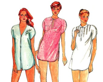 1980s Nightshirt Pattern Loose Fit Shortie Gown Shorts Butterick Vintage  Uncut Sewing Women s Misses Size Medium Bust 34-36 Inches 9a32ef2f6