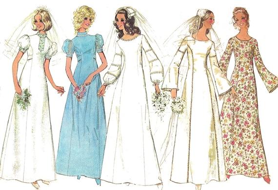 Wedding Dress Pattern 40s Bell Sleeves Vintage Simplicity Etsy Adorable Bell Sleeve Dress Pattern