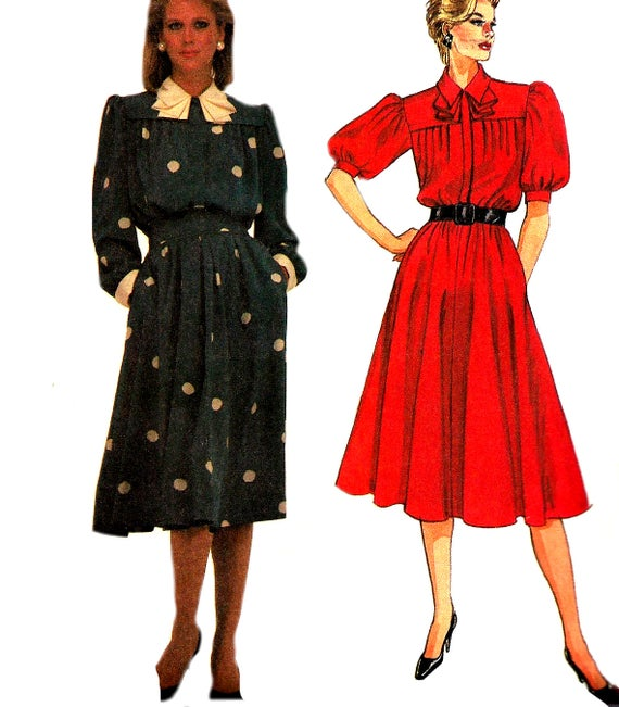 8009 UNCUT McCalls Vintage Sewing Pattern Girls Front Button  Empire Waist Dress