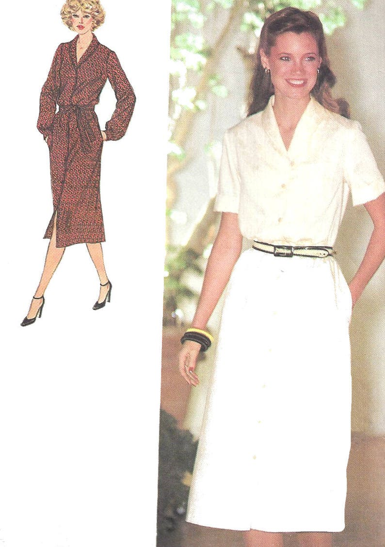 286a4769df 1970s Dress Pattern Vintage Simplicity Sewing Front Button