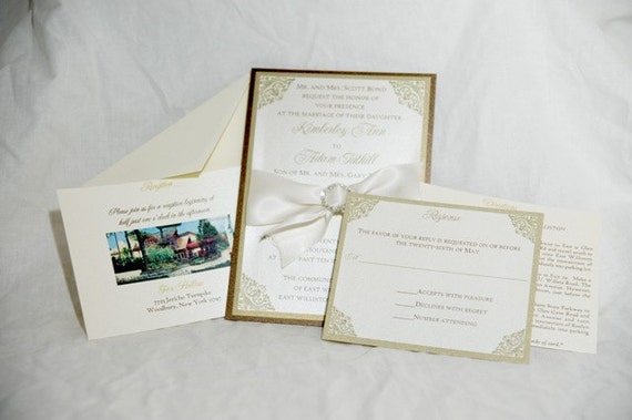 Custom Jeweled Invitation Sample
